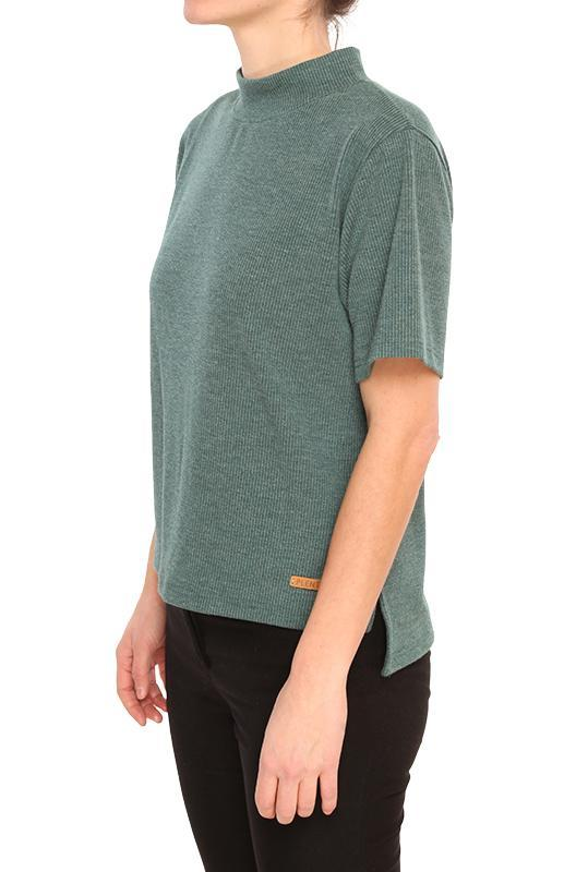 PLENTY Lidia Crop Turtle Neck Women's Spruce Green WOMENS APPAREL - Women's T-Shirts Plenty