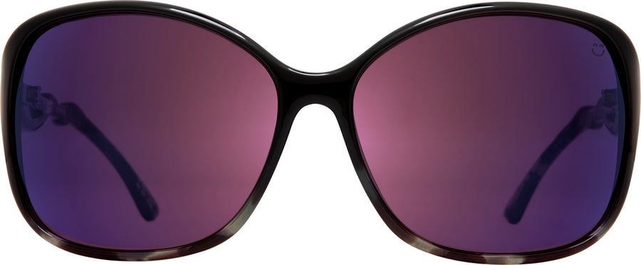 SPY Fiona Black/ Smoke Tort - Happy Rose with Midnight Spectra Sunglasses