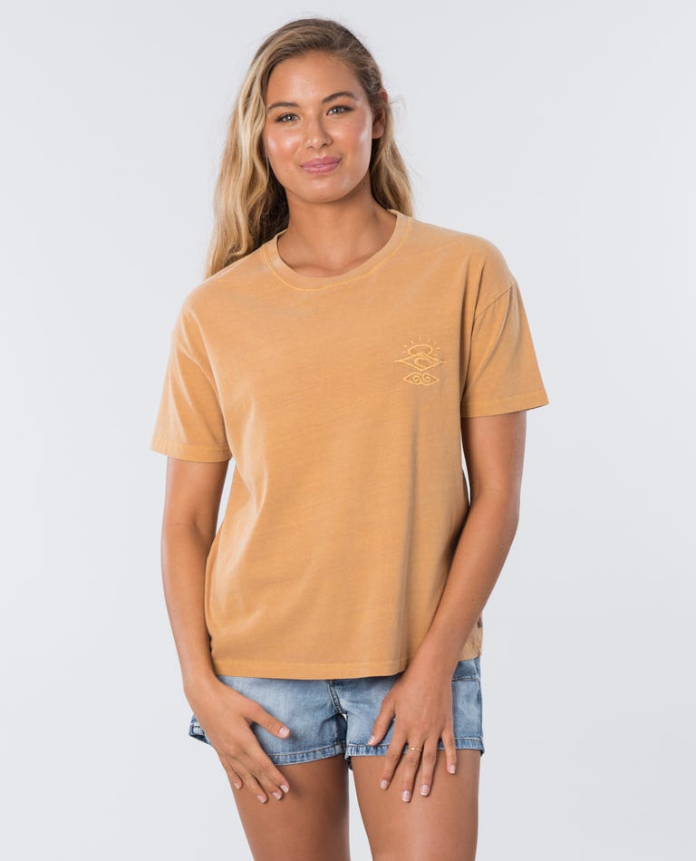RIP CURL The Searchers T-Shirt Women's Mustard