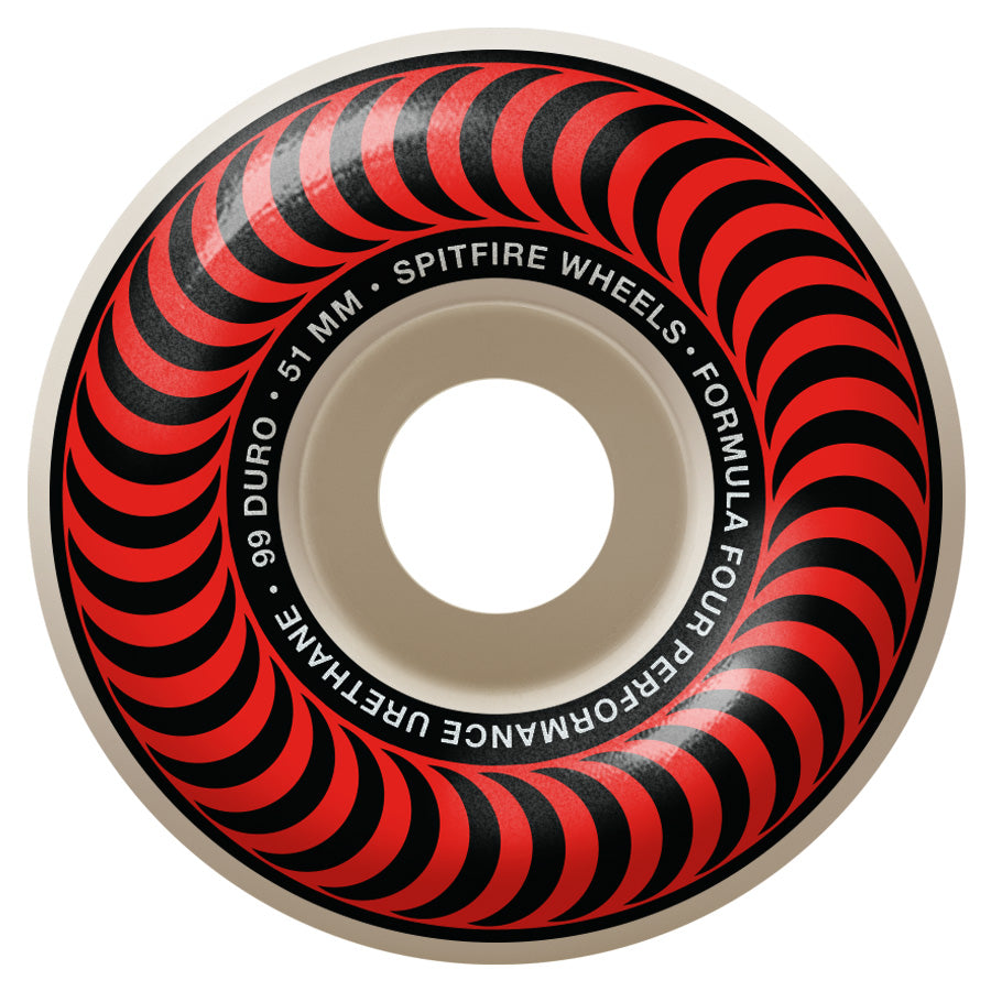 SPITFIRE Formula Four 99D Classics Red 51mm Skateboard Wheels