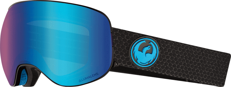 DRAGON X2 Split - Lumalens Blue Ion + Lumalens Amber Snow Goggle GOGGLES - Dragon Goggles Dragon