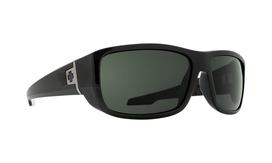 SPY MC3 Black - HD Plus Gray Green Sunglasses