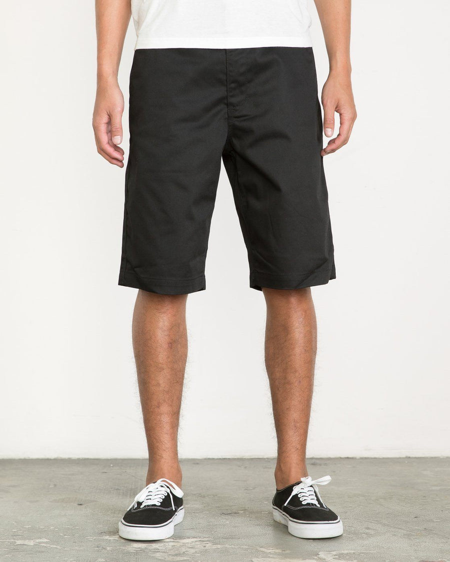 "RVCA Americana 22"" Walkshorts Black MENS APPAREL - Men's Walkshorts RVCA 30"