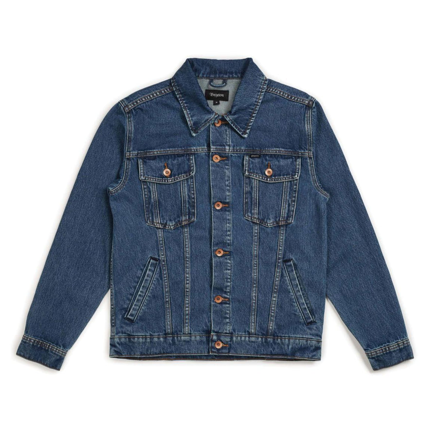 BRIXTON Cable Denim Jacket MENS APPAREL - Men's Street Jackets Brixton