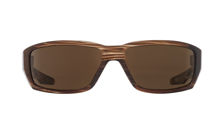 SPY Dirty Mo Brown Stripe Tort - HD Plus Bronze Polarized Sunglasses