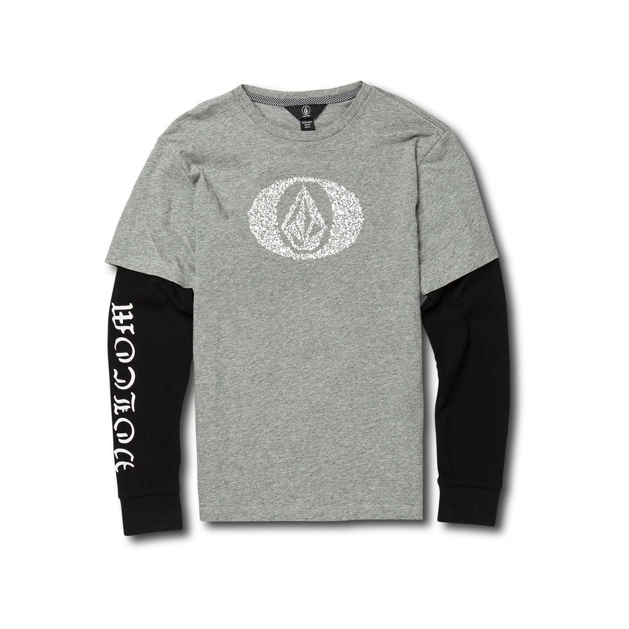 VOLCOM Grand Two Fer Boys L/S Top Heather Grey