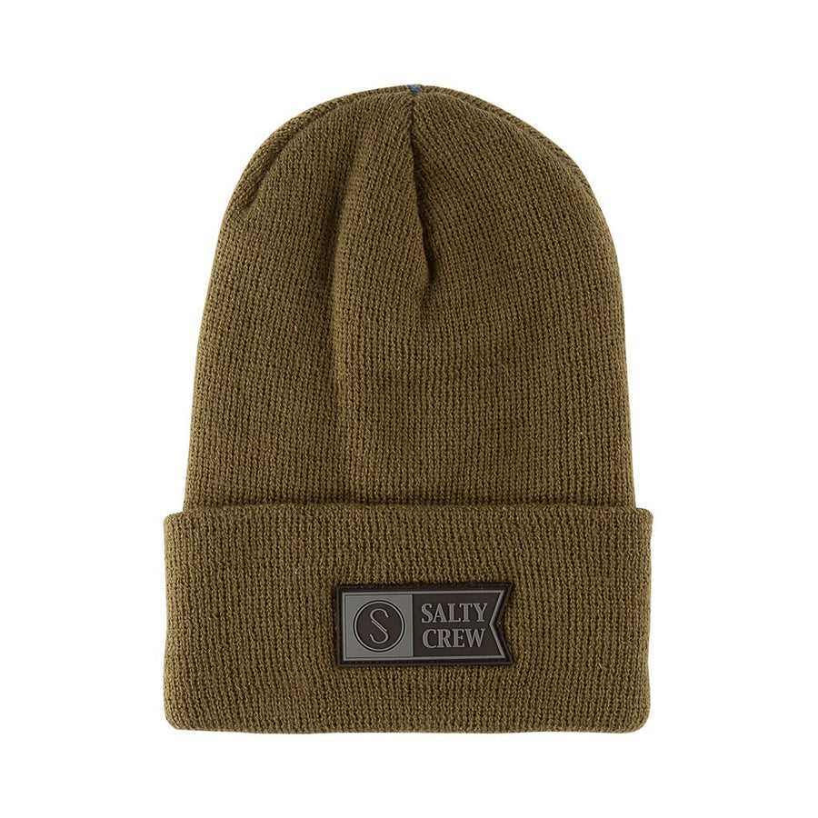 SALTY CREW Step Up Beanie Olive MENS ACCESSORIES - Men's Beanies Salty Crew