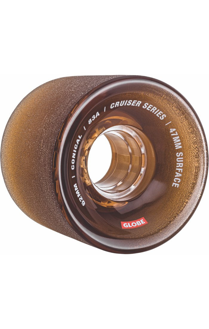 GLOBE Conical 83A 62mm Clear Coffee Longboard Wheels