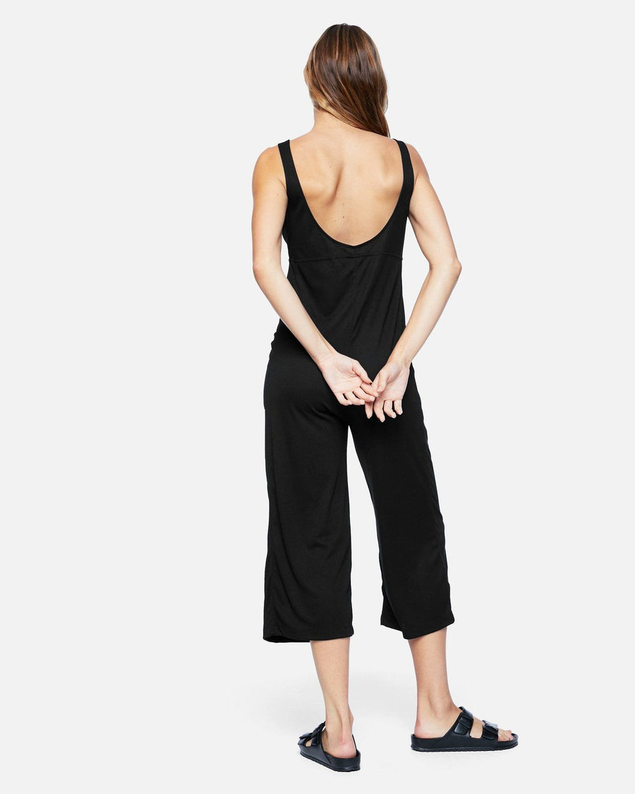 HURLEY Rib Jumpsuit Women's Black WOMENS APPAREL - Women's Jumpers and Rompers Hurley