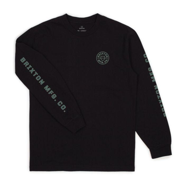 BRIXTON Crest L/S T-Shirt Black MENS APPAREL - Men's Long Sleeve T-Shirts Brixton