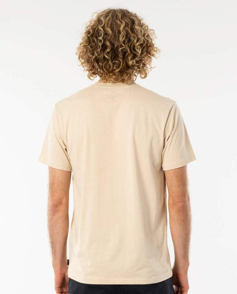 RIP CURL Split T-Shirt Bone MENS APPAREL - Men's Short Sleeve T-Shirts Rip Curl M