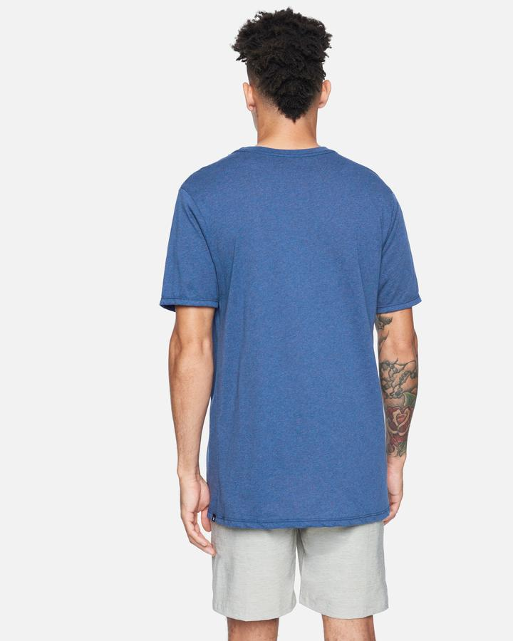 HURLEY Recycled Staple T-Shirt Blue Melange MENS APPAREL - Men's Short Sleeve T-Shirts Hurley