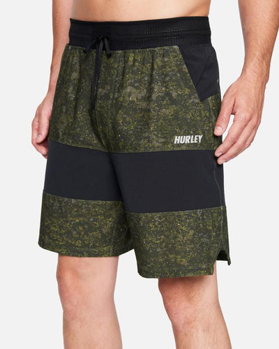 "HURLEY Phantom Explore Apex 17.5"" Shorts Medium Olive MENS APPAREL - Men's Boardshorts Hurley S"