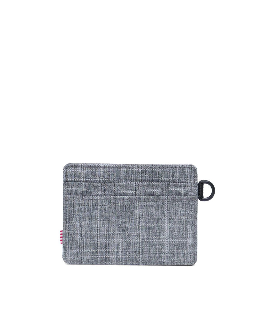 HERSCHEL Charlie ID Wallet Raven Crosshatch MENS ACCESSORIES - Men's Wallets Herschel Supply Company