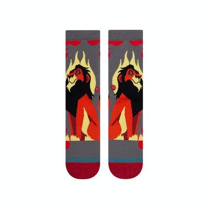 STANCE Disney Scar Socks Youth Grey KIDS APPAREL - Boy's Socks Stance