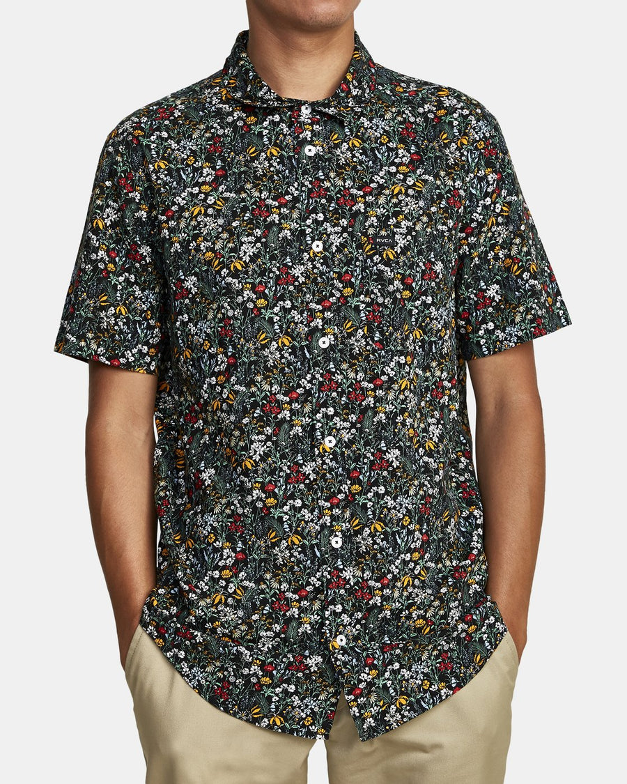 RVCA Costello S/S Button Up Multi MENS APPAREL - Men's Short Sleeve Button Up Shirts RVCA