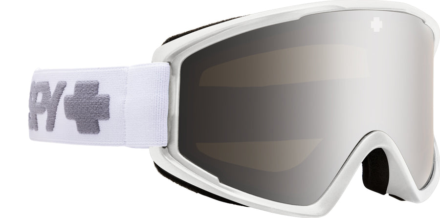 SPY Crusher Elite Matte White - HD Bronze with Silver Spectra Mirror Snow Goggles GOGGLES - Spy Goggles Spy