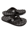 VOLCOM Recliner Sandals Big Youth Black White FOOTWEAR - Youth Sandals Volcom