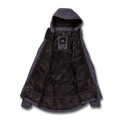 VOLCOM Shelter 3D Stretch Snowboard Jacket Women's Vintage Navy 2021 WOMENS OUTERWEAR - Women's Snowboard Jackets Volcom