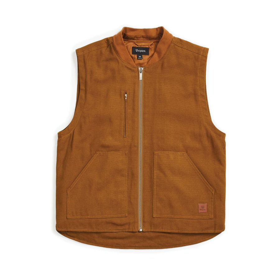 BRIXTON Abraham Convertible Jacket Copper/Navy MENS APPAREL - Men's Street Jackets Brixton