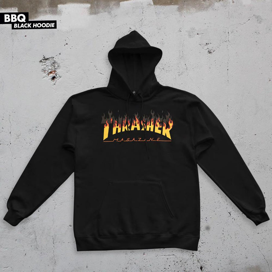 THRASHER BBQ Pullover Hoodie Black