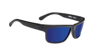 SPY Frazier Matte Black - HD Plus Bronze With Blue Spectra Polarized Sunglasses
