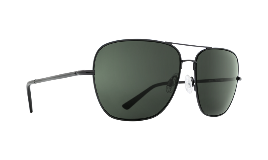 SPY Tatlow Matte Black - HD Plus Grey Green Polarized Sunglasses