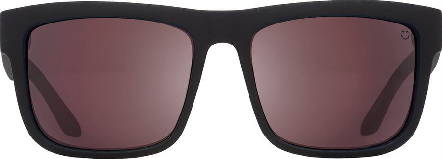 SPY Discord Matte Black - Happy Rose Polarized w/ Light Silver Spectra Sunglasses