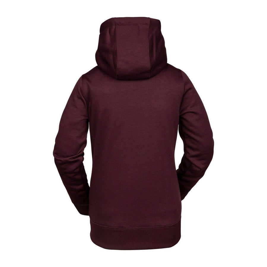 VOLCOM Cascara Zip Up Hoodie Women's Merlot WOMENS APPAREL - Women's Zip Hoodies Volcom