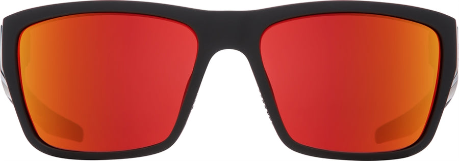 SPY Dirty Mo 2 Matte Black Red Burst - HD Plus Rose With Red Spectra Polarized Sunglasses
