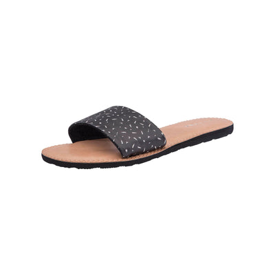 VOLCOM Simple Slide Sandals Women's Black/White FOOTWEAR - Women's Sandals Volcom