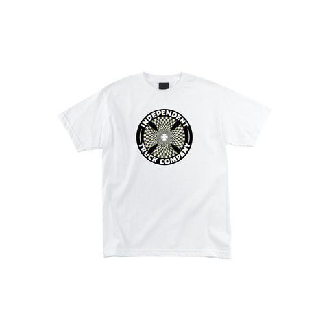 INDEPENDENT Pin Wheel Cross S/S T-Shirt MENS APPAREL - Men's Short Sleeve T-Shirts Independent