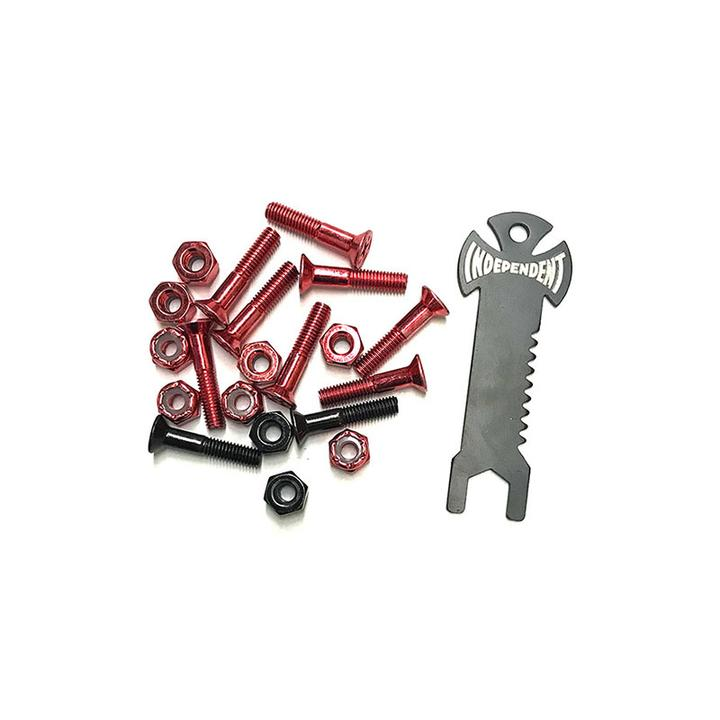 INDEPENDENT Phillips 1in With Tool Red/Black Skateboard Hardware