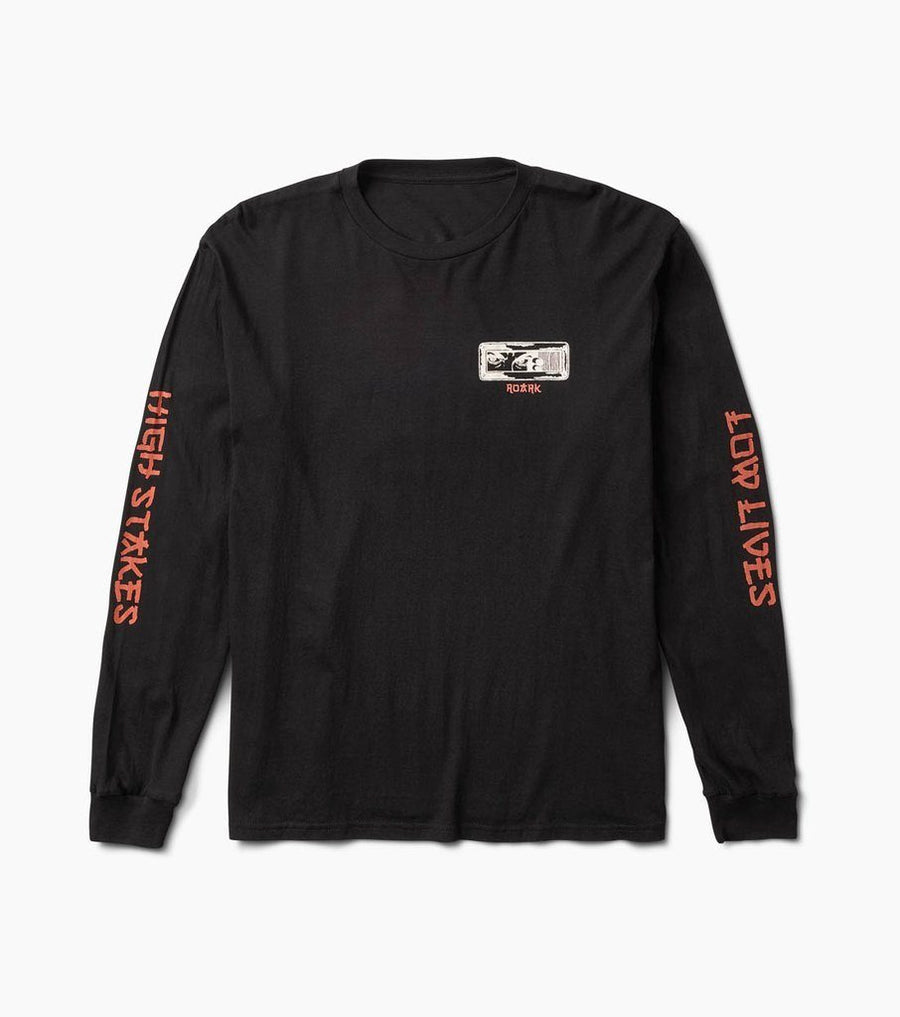 ROARK High Stakes, Low Lives Staple L/S T-Shirt Black