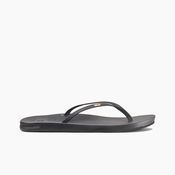 REEF Cushion Bounce Slim Sandals Women's Black FOOTWEAR - Women's Sandals Reef