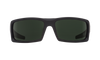 SPY General Soft Matte Black - Happy Grey Green Polarized Sunglasses