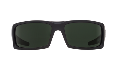 SPY General Soft Matte Black - HD Plus Grey Green Polarized Sunglasses