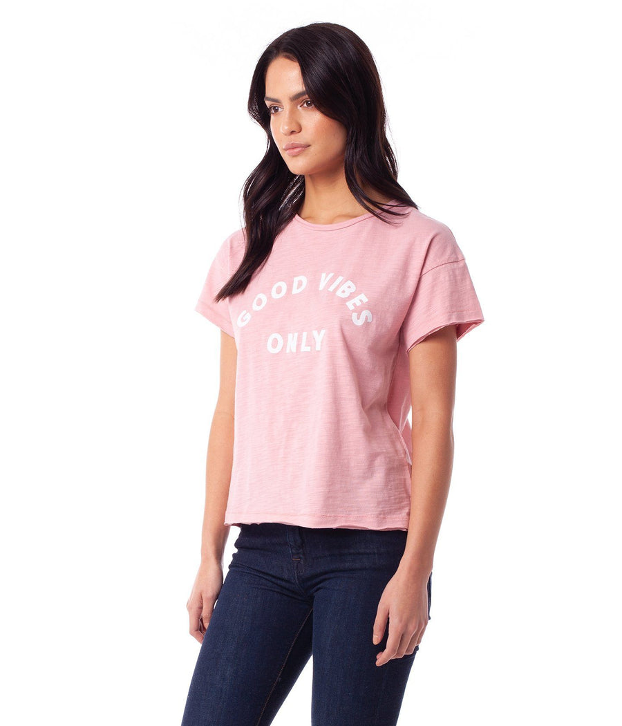 RHYTHM Good Vibes T-Shirt Women's Mauve WOMENS APPAREL - Women's T-Shirts Rhythm L