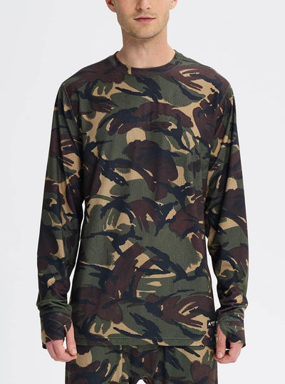 BURTON Midweight Base Layer Crew Top Seersucker Camo MENS OUTERWEAR - Men's Base Layer Burton