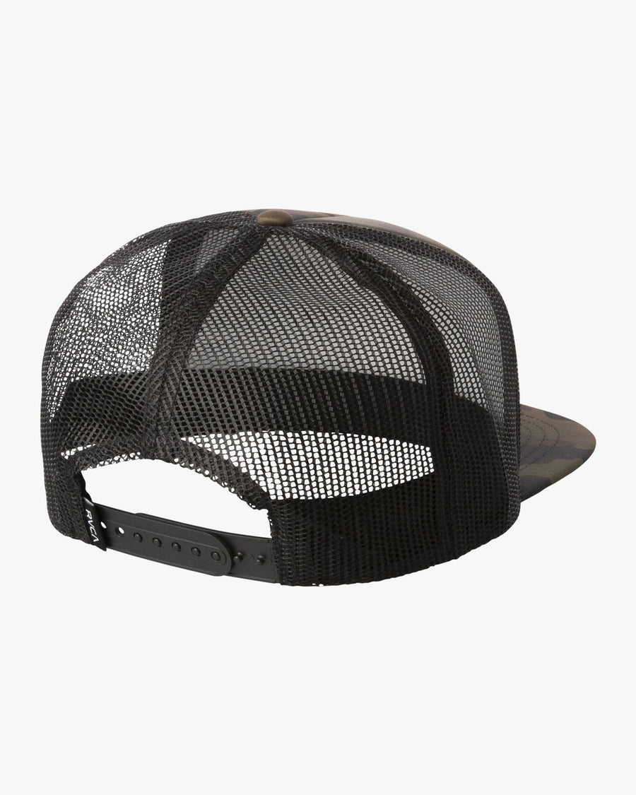 RVCA Hawaii Hex Trucker Hat Camo MENS ACCESSORIES - Men's Baseball Hats RVCA