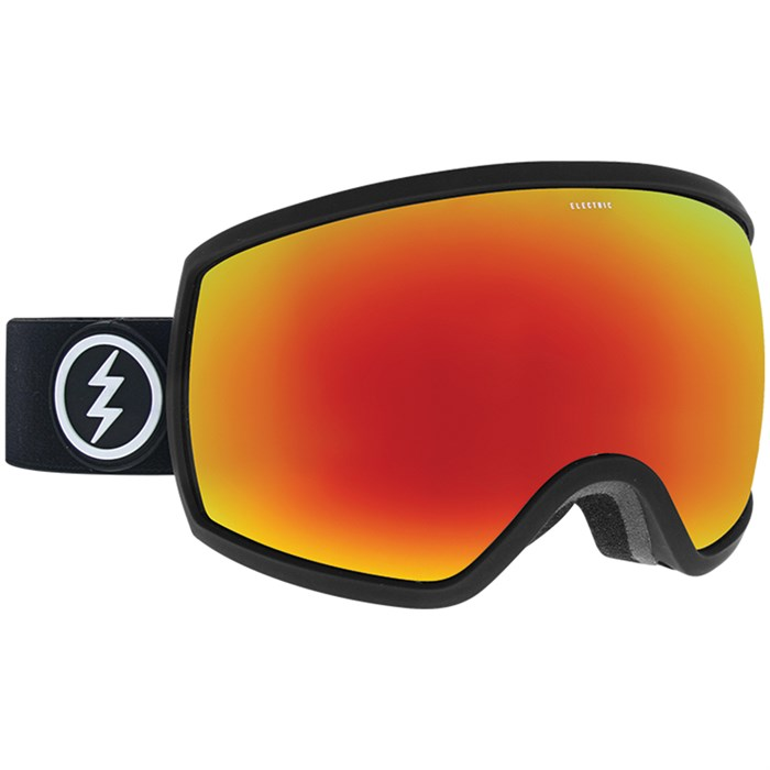 ELECTRIC EGG Matte Black - Brose/Red Chrome Snow Goggles
