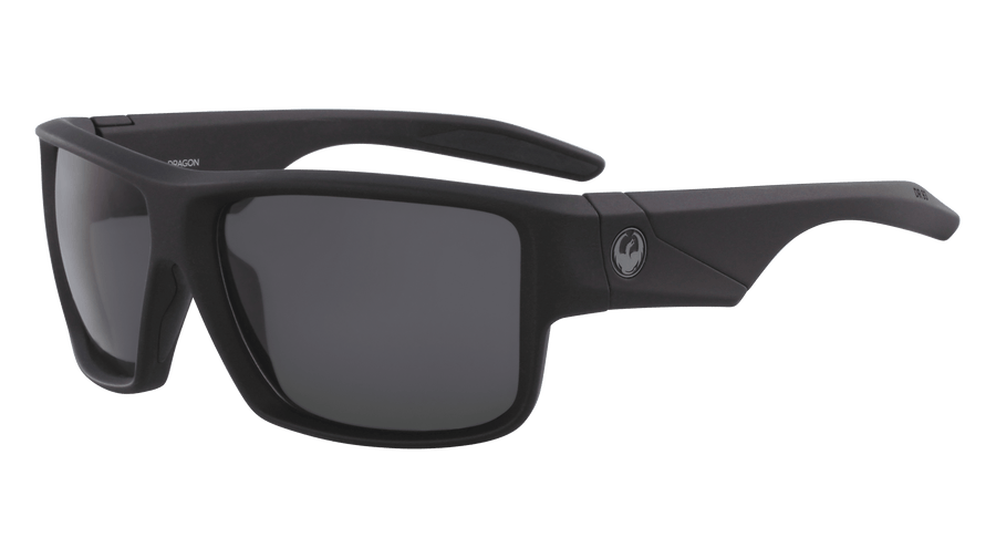 DRAGON Deadlock H20 Matte Black - Solid Smoke Polarized Sunglasses SUNGLASSES - Dragon Sunglasses Dragon