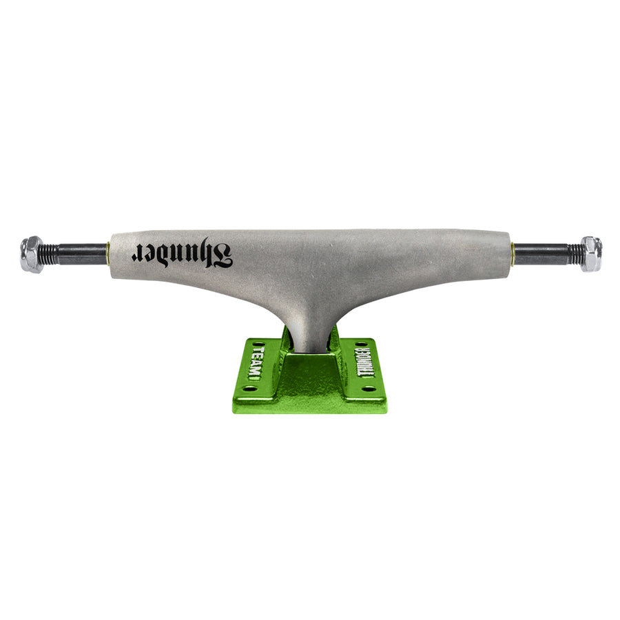 THUNDER Script Raw Team 148 HI Shocker Green Skateboard Trucks SKATE SHOP - Skateboard Trucks Thunder