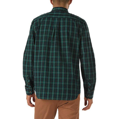 VANS Rockwood Long Sleeve Button Up Shirt Trekking Green MENS APPAREL - Men's Long Sleeve Button Up Shirts Vans