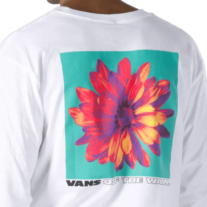 VANS Blooming Long Sleeve T-Shirt White MENS APPAREL - Men's Long Sleeve T-Shirts Vans M