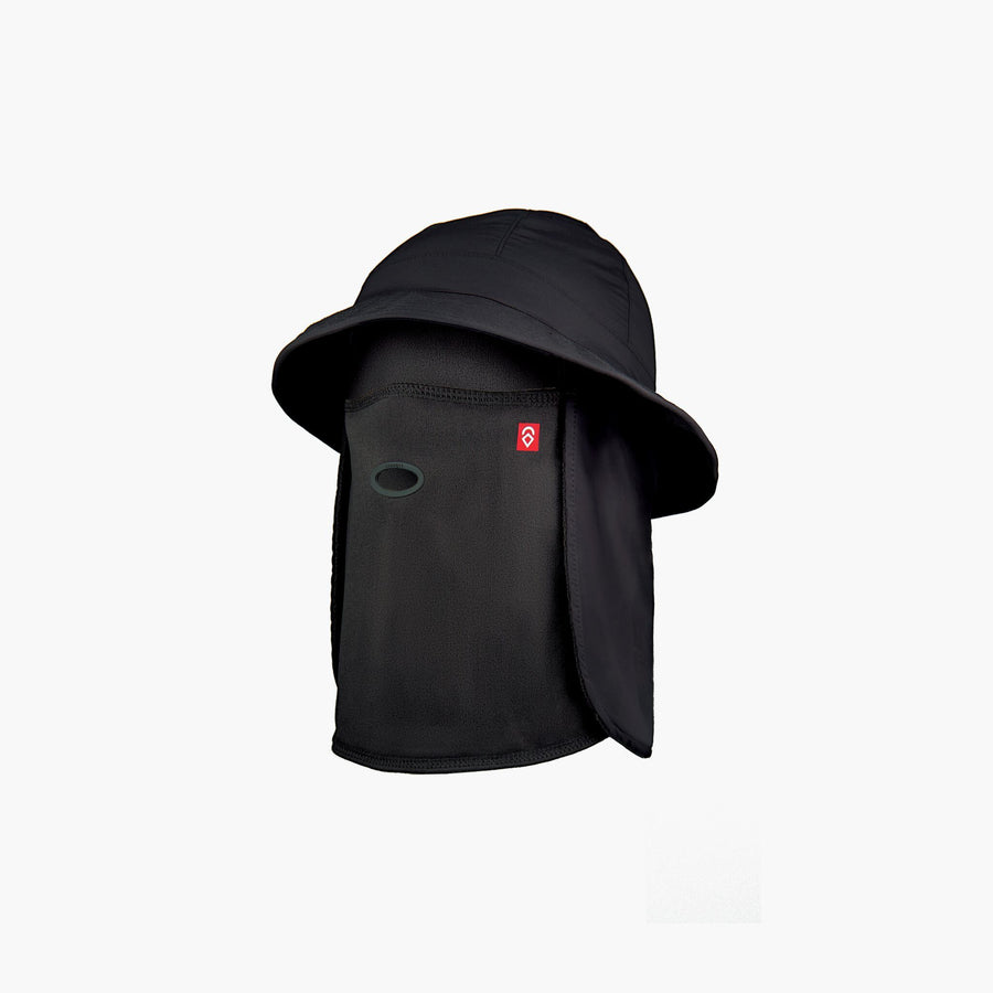 AIRHOLE Bucket Tech Hat Polar Black SNOWBOARD ACCESSORIES - Snowboard Facemasks Airhole