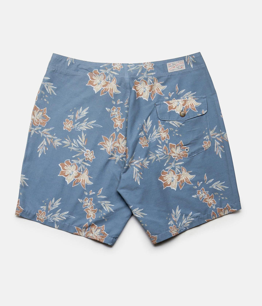 RHYTHM Vintage Aloha Trunk Boardshort Pacific Blue