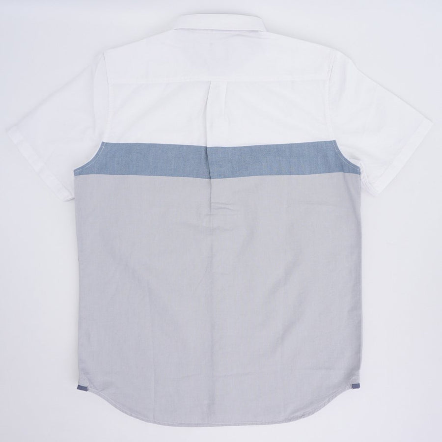 VANS Estancia Short Sleeve Button Up Shirt White/ High Rise