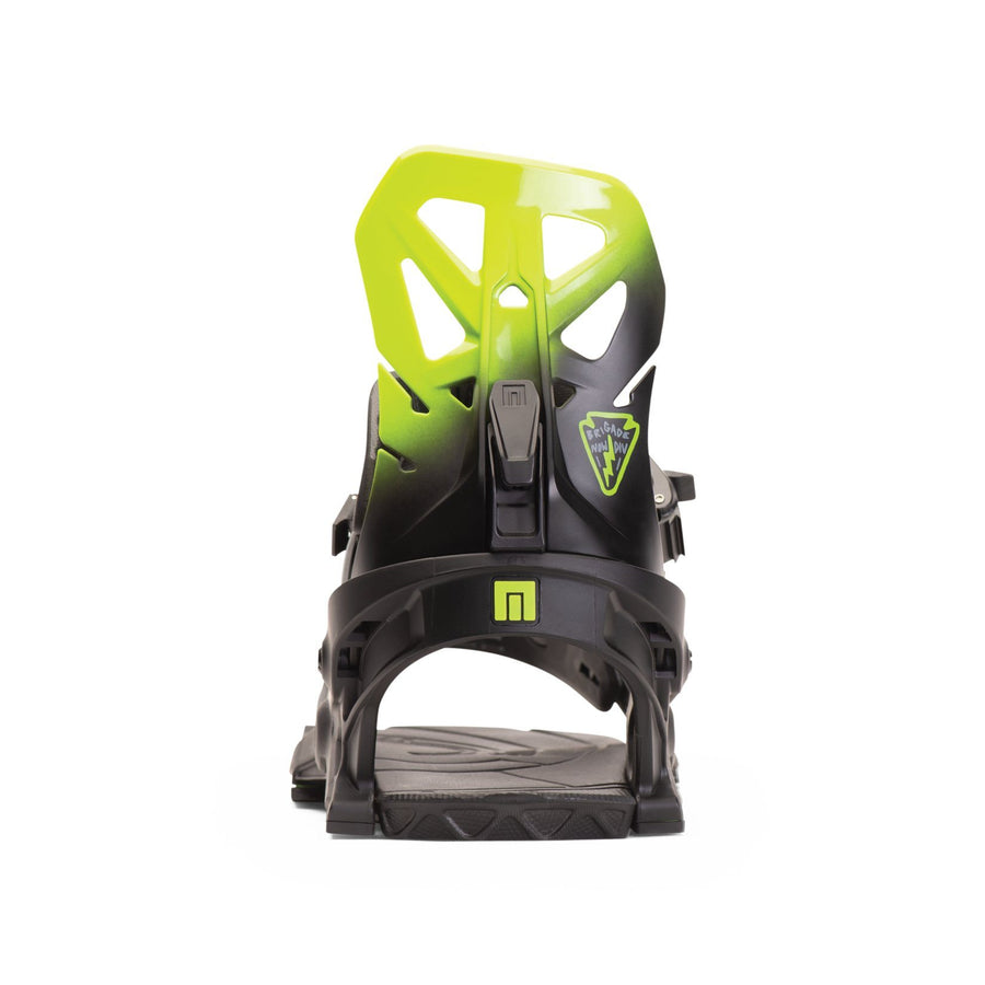 NOW Brigade Snowboard Bindings Black/Green 2020 SNOWBOARD BINDINGS - Men's Snowboard Bindings Now Bindings