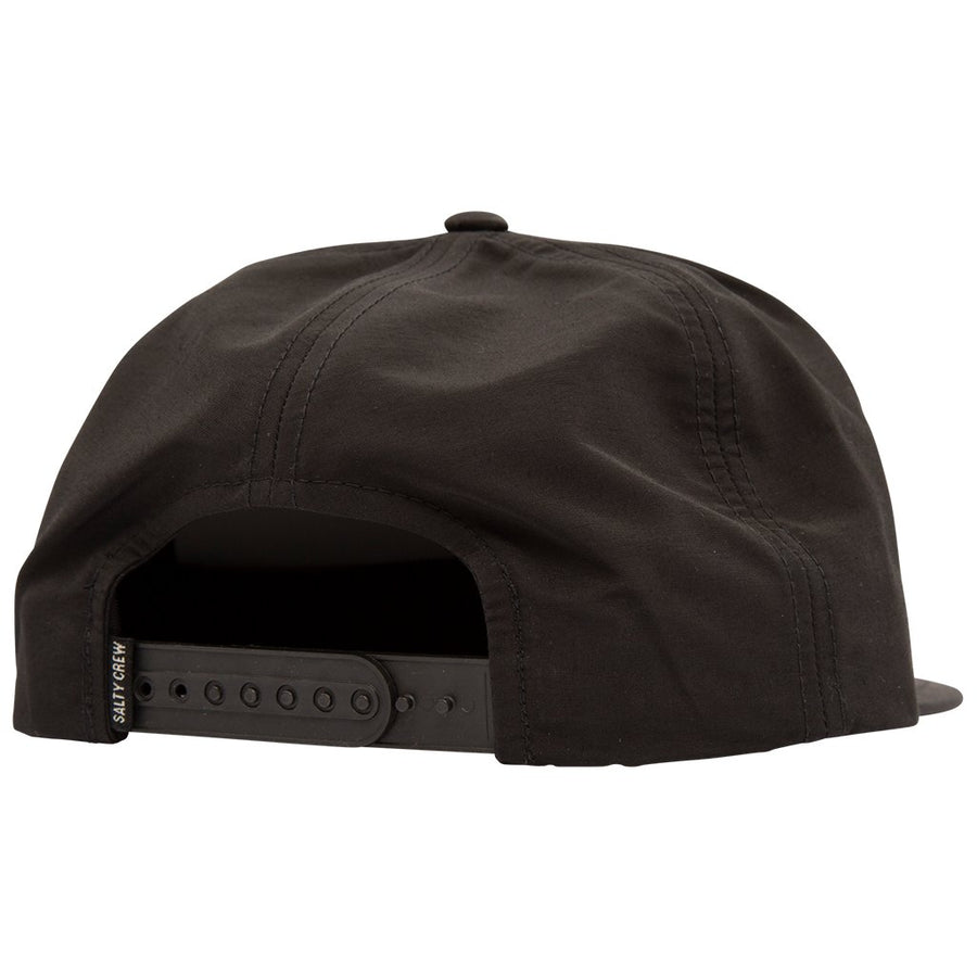 SALTY CREW Tippet Tech 5 Panel Hat Black